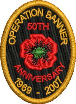 Operation Banner 50th Anniversary Badge